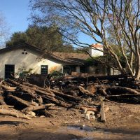 The Crail family's mudslide-damaged home in Montecito, Calif. (Courtesy of the Crail family)