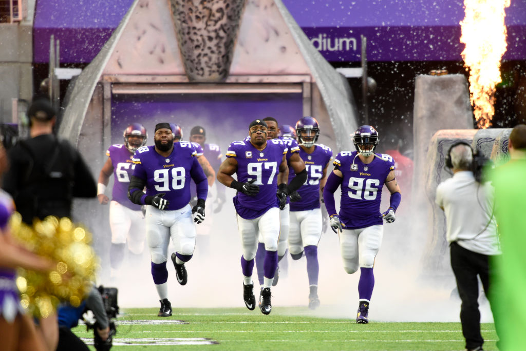 If the Minnesota Vikings survive the Divisional Round and NFC Championship, they'll have home-field advantage in Super Bowl LII. (Hannah Foslien/Getty Images)