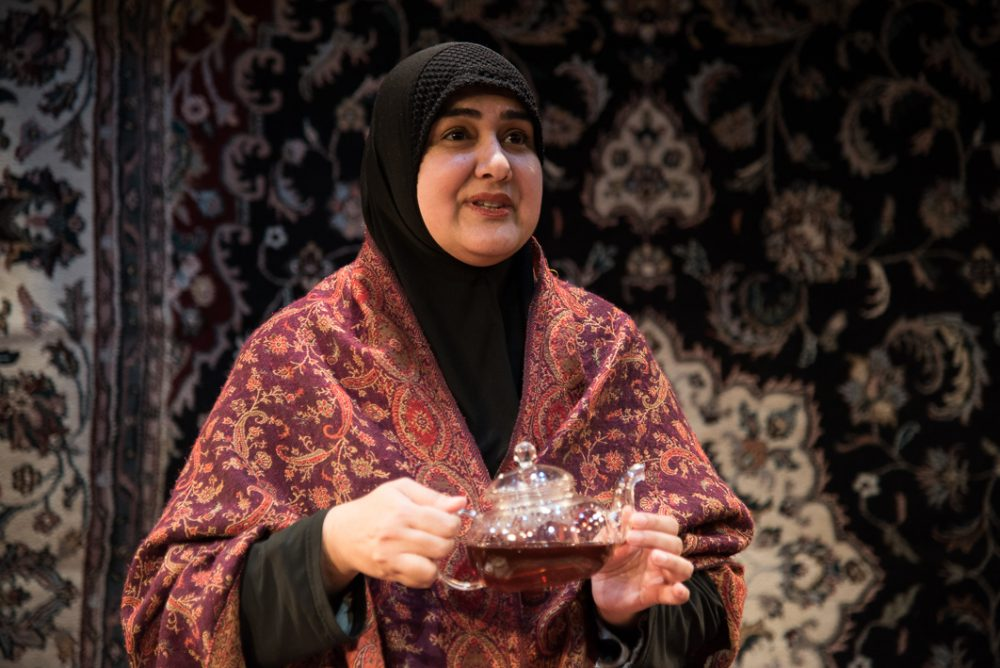 "Playwright and performer Rohina Malik in ""Unveiled."" (Courtesy Andrew Brilliant/Brilliant Pictures)"