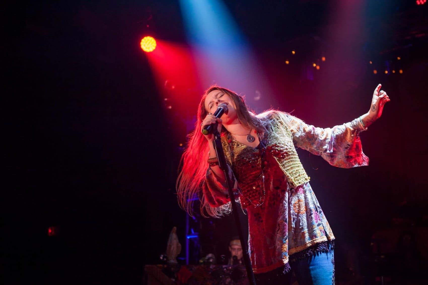 Kelly McIntyre as Janis Joplin on stage. (Courtesy Randy Johnson)