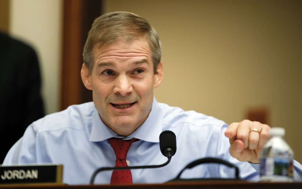 Rep. Jim Jordan, R-Ohio, questions FBI Director Christopher Wray during a House Judiciary hearing on Capitol Hill in Washington, Thursday, Dec. 7, 2017, on oversight of the Federal Bureau of Investigation. (Carolyn Kaster/AP)
