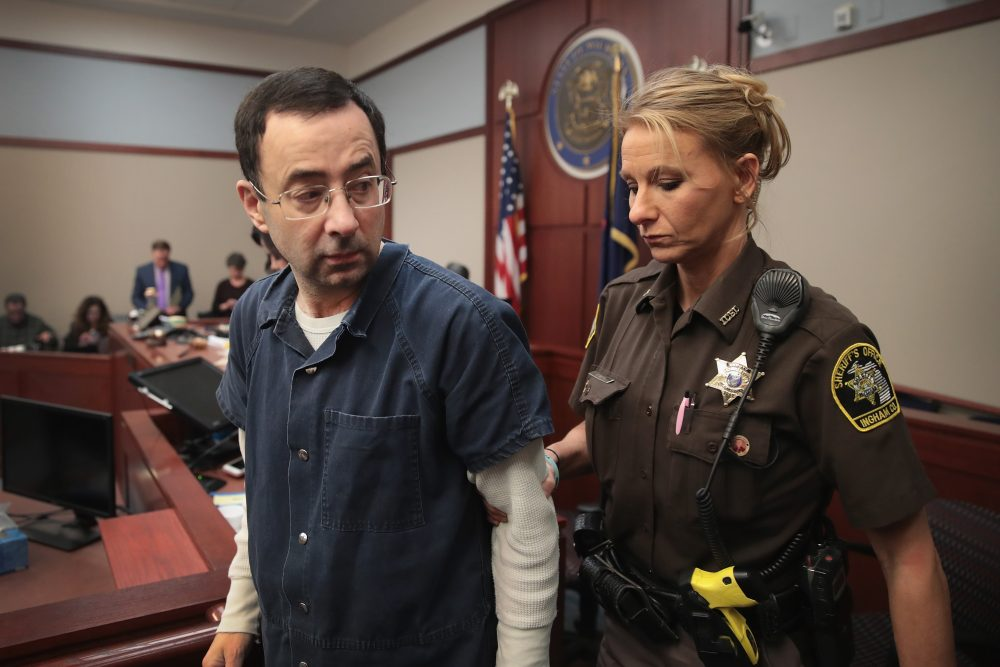 Larry Nassar, who has pleaded guilty to multiple counts of criminal sexual conduct, is expected to be sentenced early next week. (Scott Olson/Getty Images)