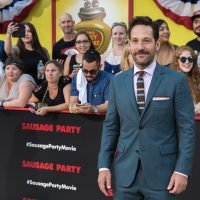 """Paul Rudd arrives at the world premiere of """"Sausage Party"""" at the Regency Village Theatre on Tuesday, August 9, 2016, in Los Angeles. (Willy Sanjuan/Invision/AP)"""