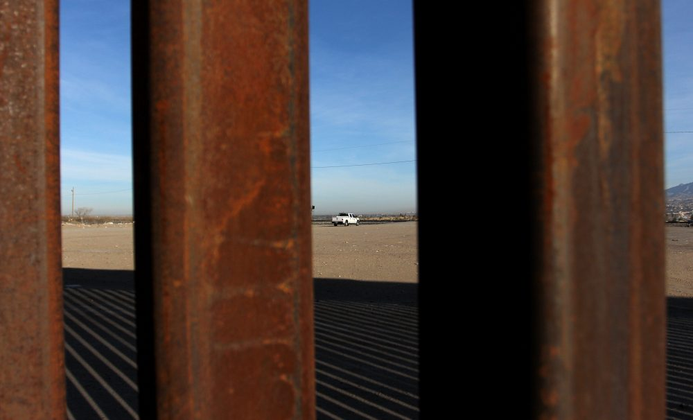 A U.S. patrol is pictured through the border wall that divides Mexico from the United States, in Ciudad Juarez, Chihuahua state, Mexico, Jan. 19, 2018. (AFP/Getty Images)