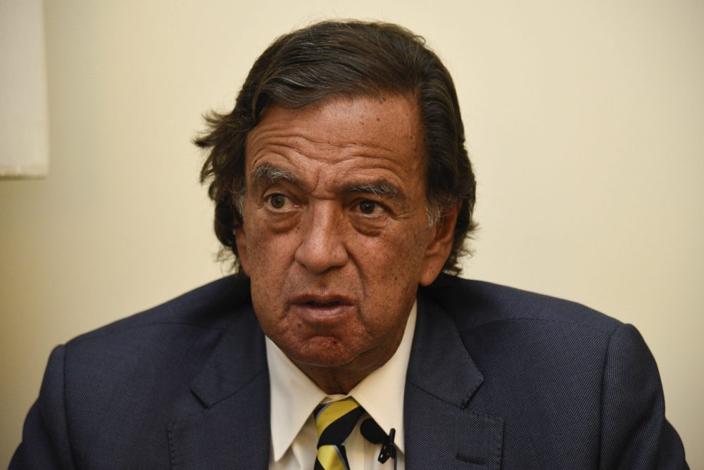 "During an interview with The Associated Press, former New Mexico Gov. Bill Richardson said he has resigned from an advisory panel trying to tackle the massive Rohingya refugee crisis, Wednesday, Jan. 24, 2018, in Yangon, Myanmar. Richardson said the attempt to repatriate the refugees was a ""whitewash and a cheerleading operation"" for the government of Myanmar leader Aung San Suu Kyi. (Thet Htoo/AP)"
