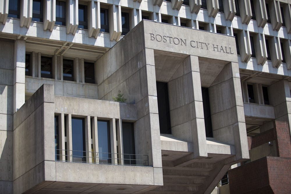 Boston City Hall. (Jesse Costa/WBUR)