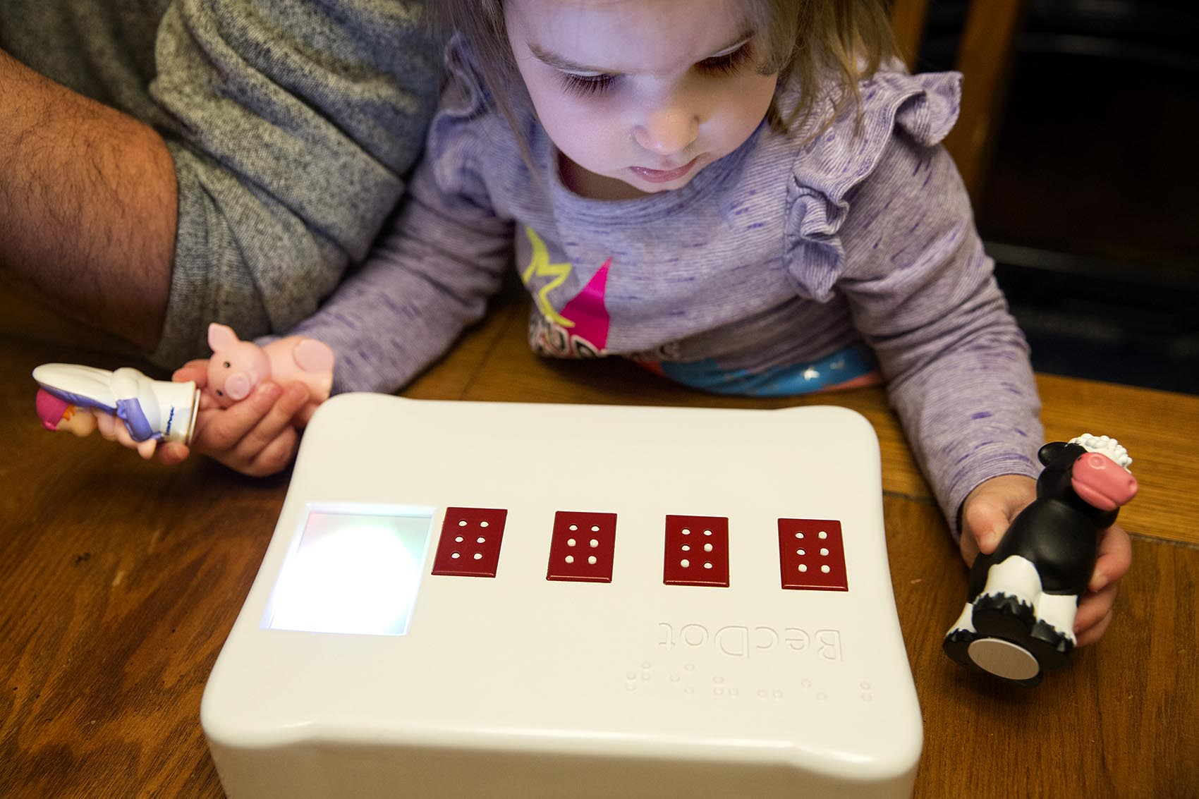 His 2 Year Old Daughter Is Slowly Going Blind So He Invented A Game