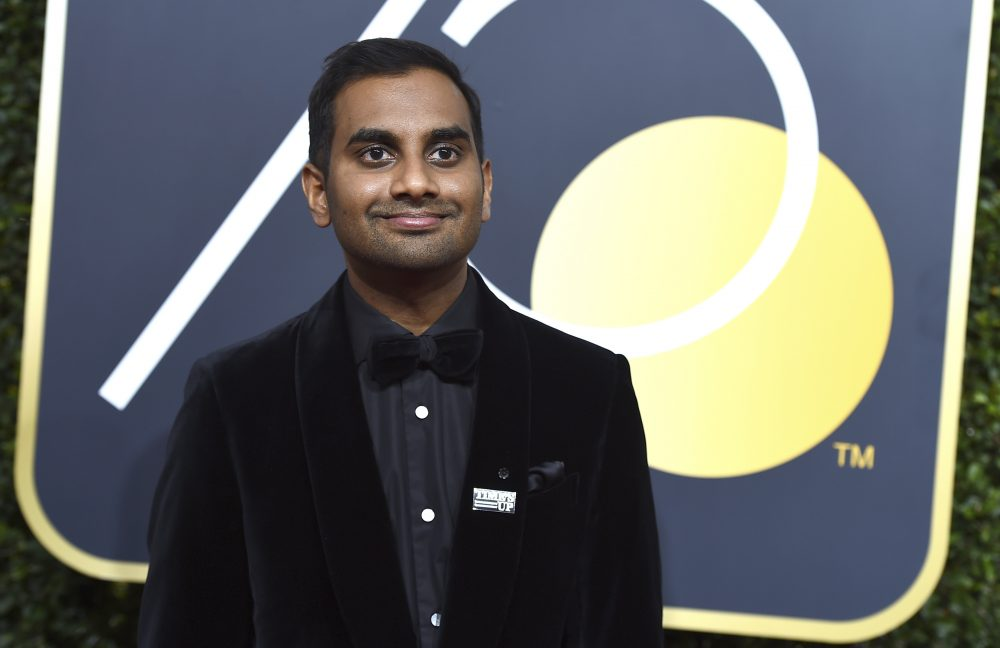 In this Sunday, Jan. 7, 2018 file photo, Aziz Ansari arrives at the 75th annual Golden Globe Awards in Beverly Hills, Calif. (Jordan Strauss/Invision/AP)