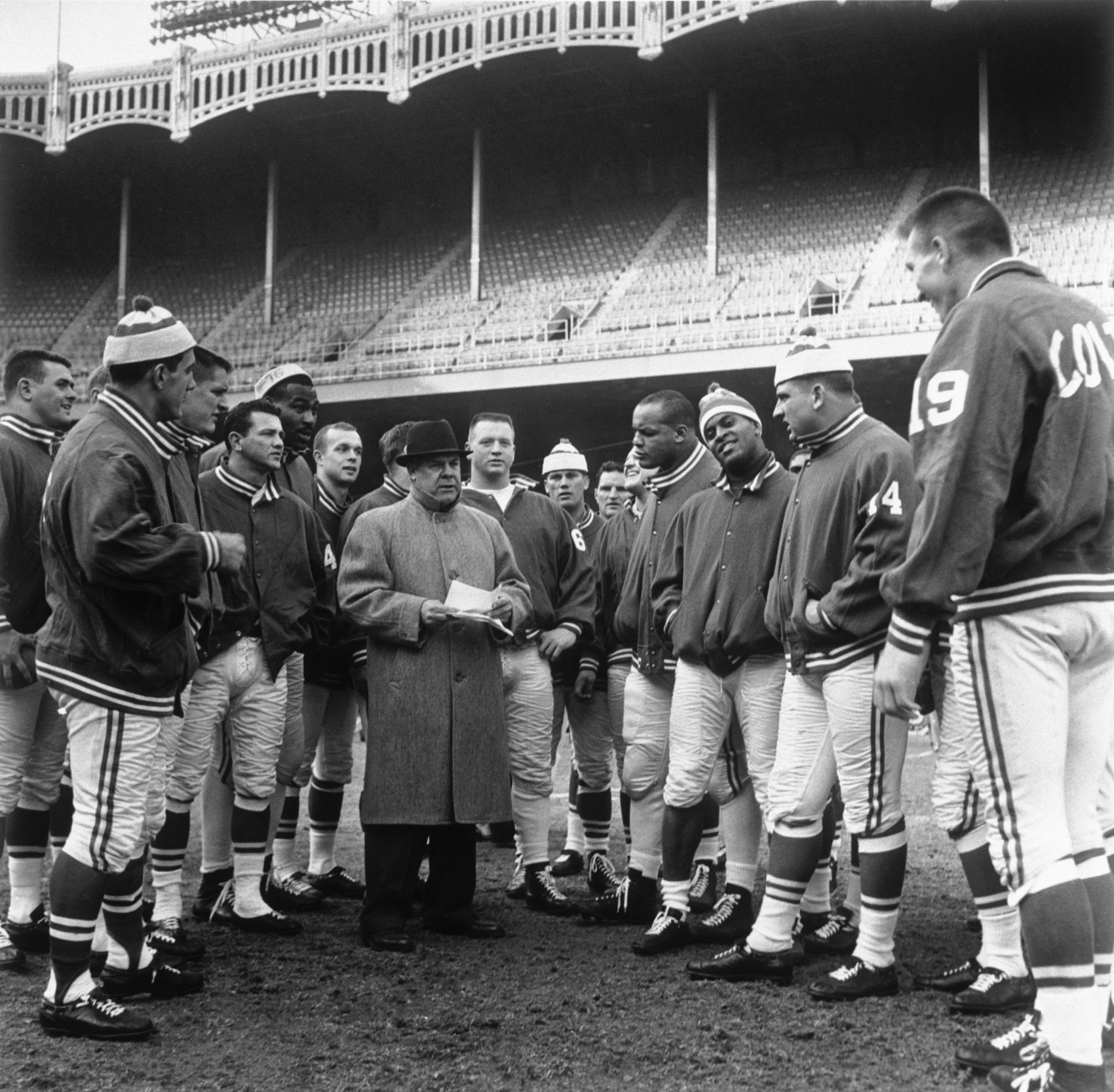 There were no ropes between the Colts and the people of Baltimore, sports writer Ron Borges says. Here the Colts are pictured with head coach Weeb Ewbank in 1958. (AP)