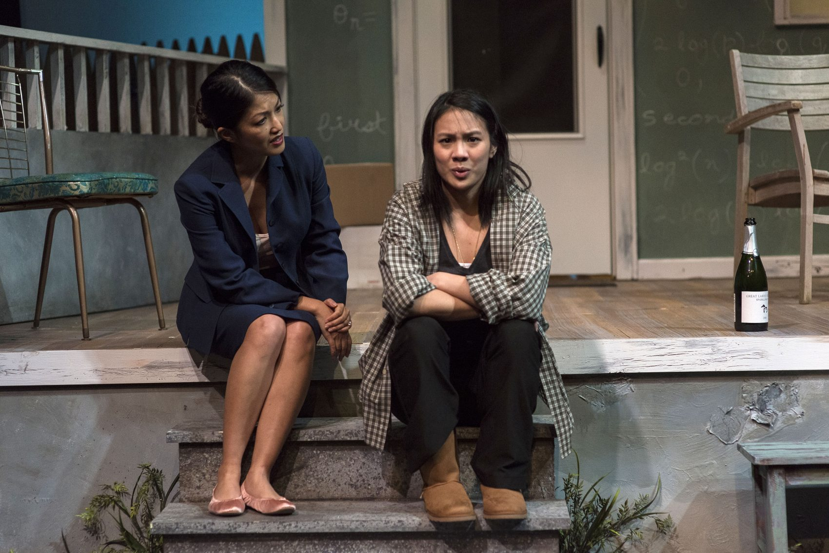 """Cheryl Daro as Claire, left, and Lisa Nguyen as Catherine in Nora Theatre Company's """"Proof."""" (Courtesy A.R. Sinclair Photography)"""