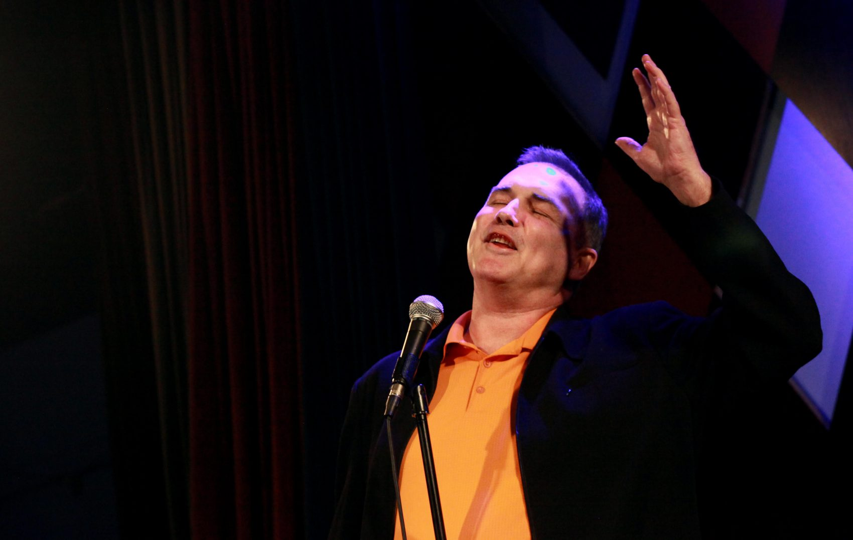 Comedian Norm MacDonald performs on stage at Carolines on Broadway in Manhattan, NY, on November 13, 2015. (Photo by Yana Paskova/For The Washington Post)