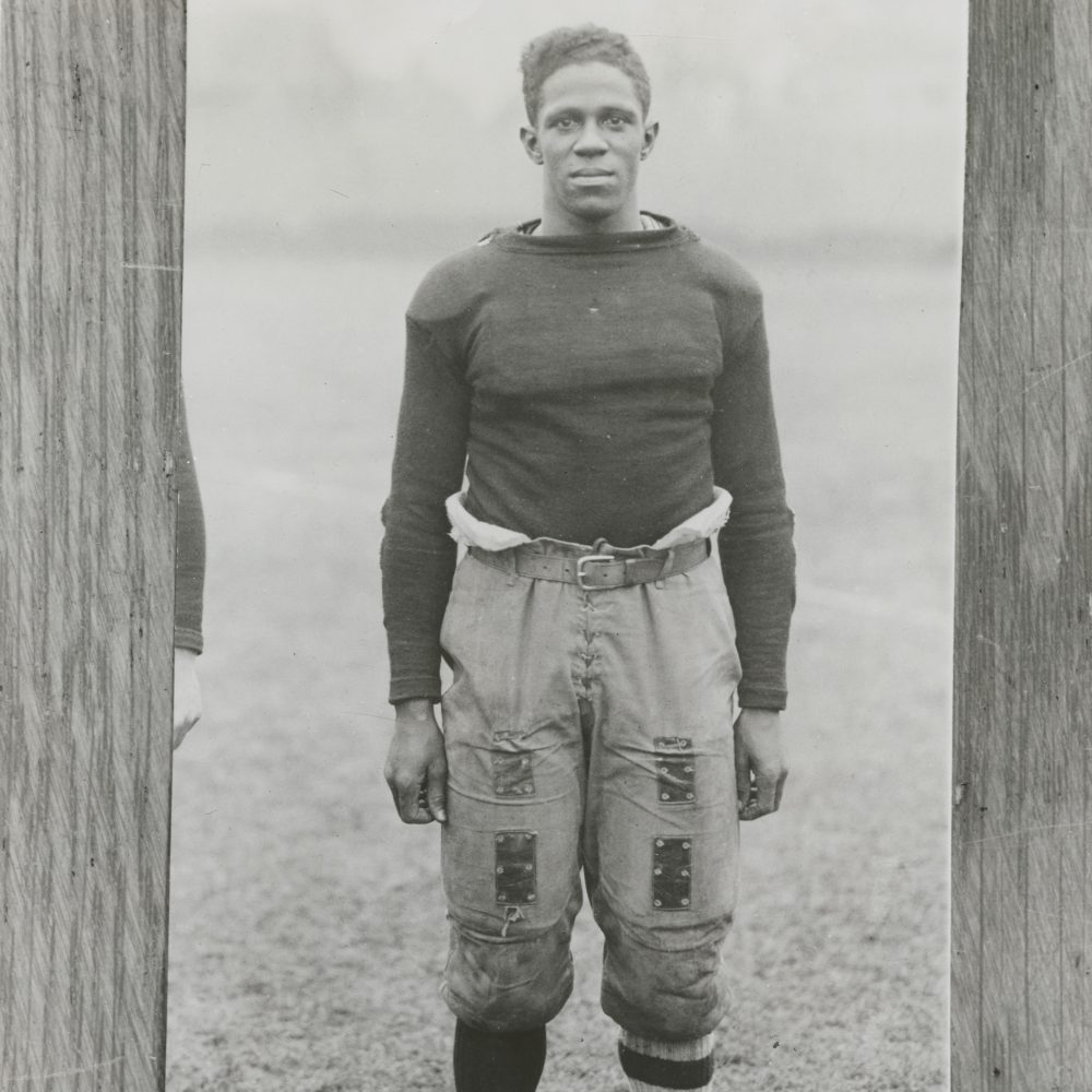 Fritz Pollard was a star running back for Brown University. He had to endure racism and death threats during his time there. (John Hay Library, Brown University)