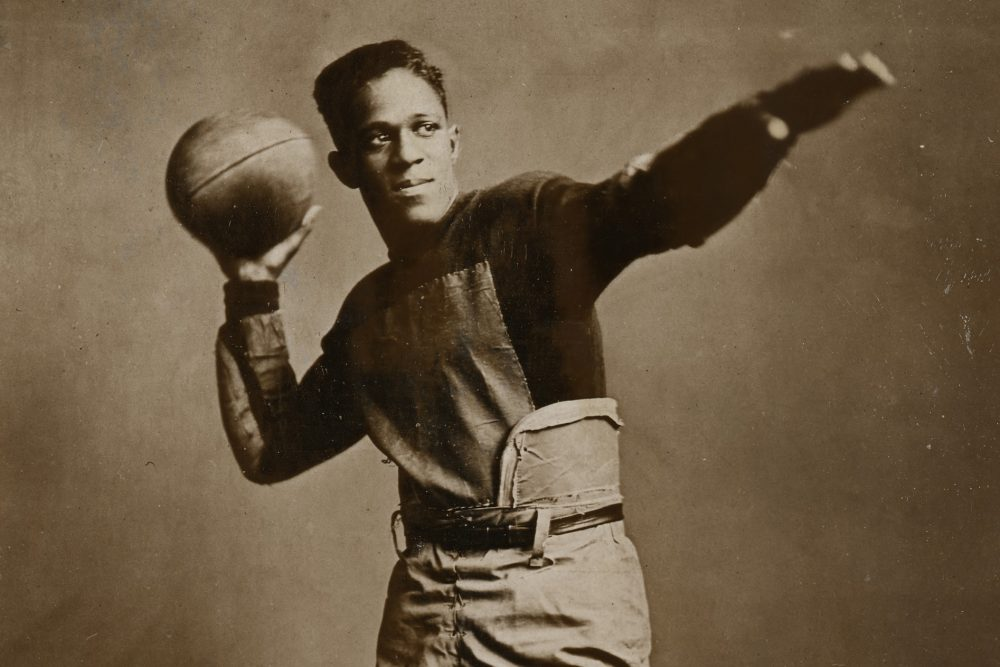 Fritz Pollard is credited with being the first African-American to play quarterback and coach in the pros. (John Hay Library, Brown University)