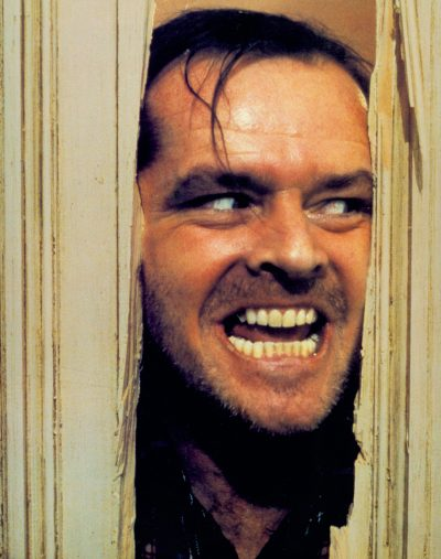 "Jack Nicholson as Jack Torrance in Stanley Kubrick's ""The Shining."" (Courtesy Coolidge Corner Theatre)"
