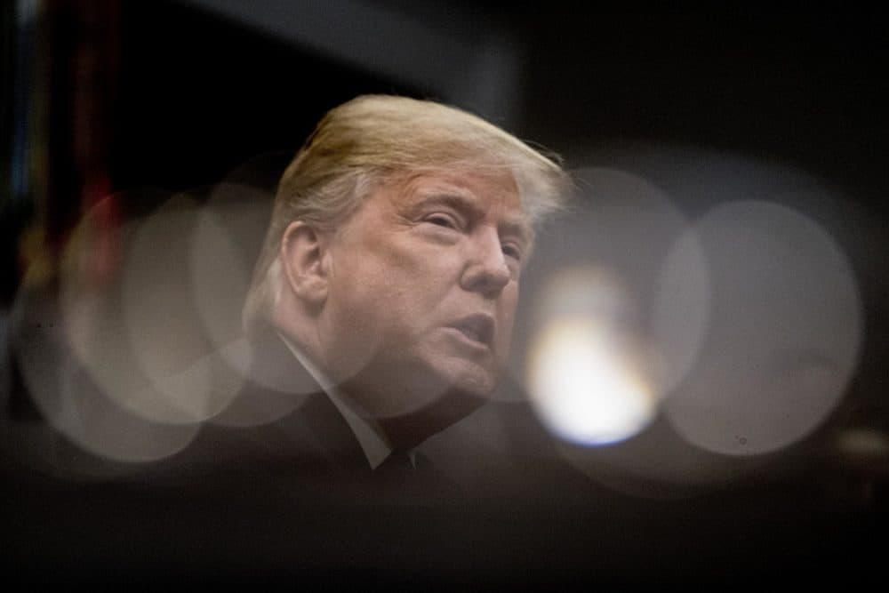 President Trump speaks during a meeting with Republican senators on Jan. 4, 2018, in Washington. (Andrew Harnik/AP)