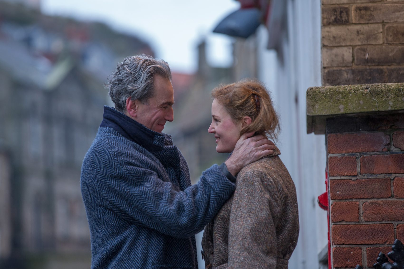 "Daniel Day-Lewis stars as Reynolds Woodcock and Vicky Krieps stars as Alma in Paul Thomas Anderson's ""Phantom Thread."" (Courtesy Laurie Sparham/Focus Features)"