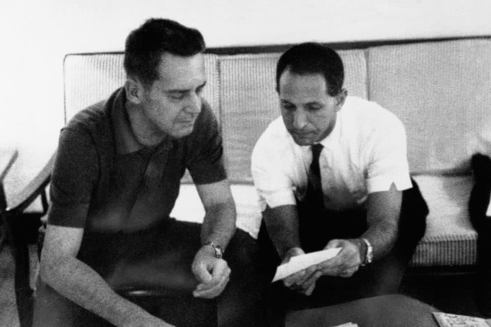 Daniel Ellsberg, right, is shown in Saigon in 1965 with Maj. Gen. Edward Lansdale. (AP Photo)