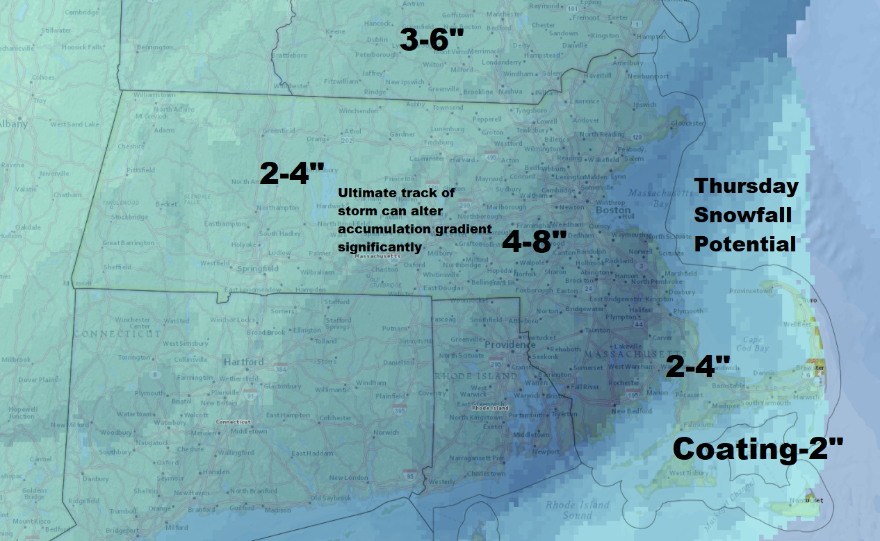 The cold will relax for the middle of the week, but it comes with a snowstorm. (Dave Epstein/WBUR)
