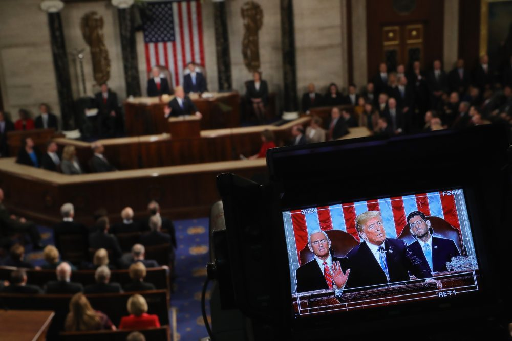 President Trump delivers the State of the Union address in the chamber of the U.S. House of Representatives Jan. 30, 2018 in Washington, D.C. (Chip Somodevilla/Getty Images)