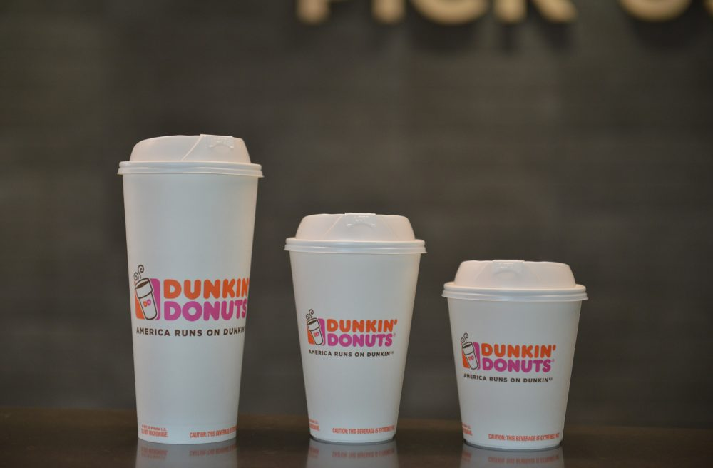 Dunkin' Donuts new double-walled paper cups (Courtesy Dunkin' Donuts)