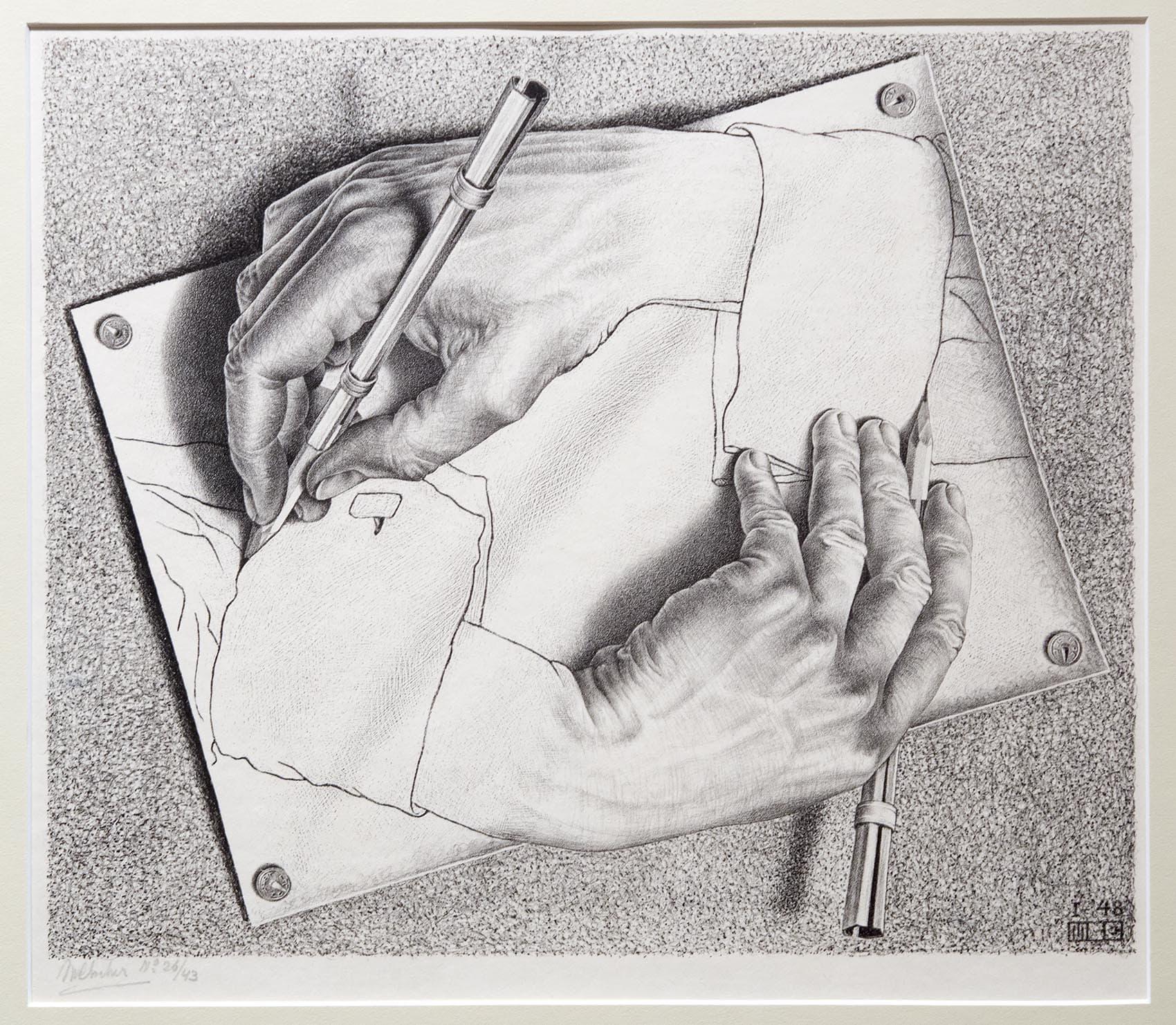 Image result for escher hands