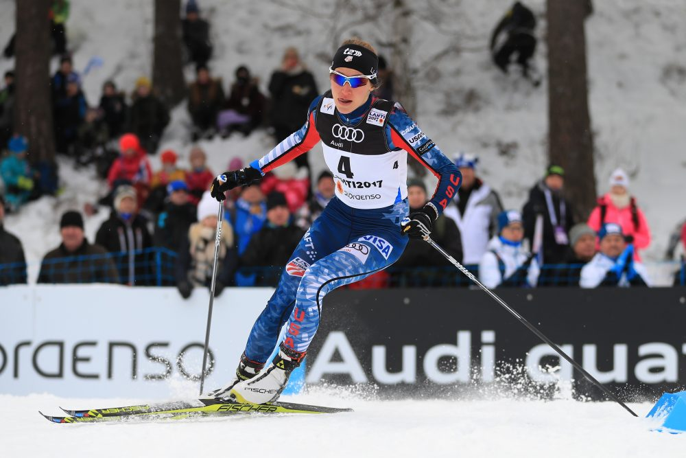 Sophie Caldwell is following in the tracks of family members who skied in the Olympics before her. But in South Korea she'll try to accomplish something that none of her family members have: win an Olympic medal. (Richard Heathcote/Getty Images)