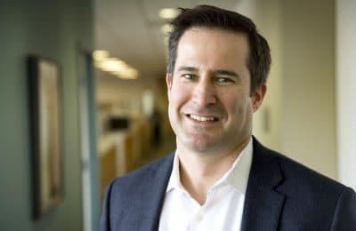 U.S. Representative Seth Moulton at WBUR. (Robin Lubbock/WBUR)