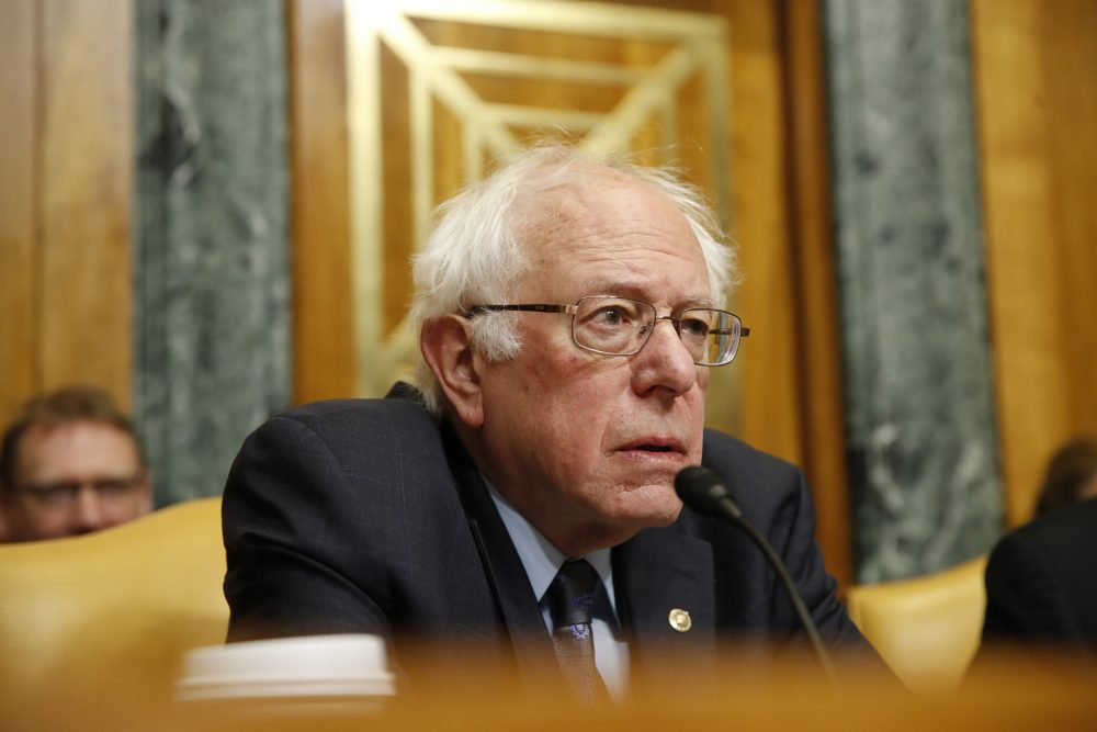 Senate Budget Committee Ranking Member Sen. Bernie Sanders, I-Vt., listens during a committee oversight hearing with testimony from Congressional Budget Office Director Keith Hall, Wednesday, Jan. 24, 2018, on Capitol Hill in Washington. (Jacquelyn Martin/AP)