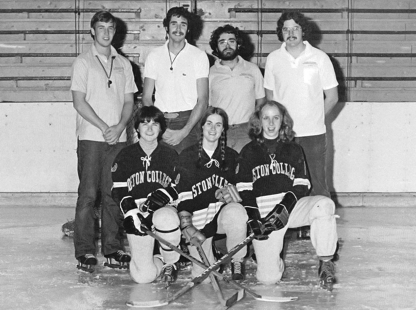 38926edbb7f Reenie Baker (front right) founded the women s team at Boston College in  1973.