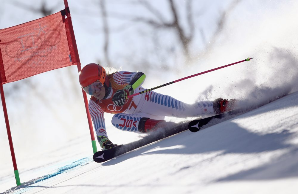 U.S. skier Mikaela Shiffrin won her second career gold medal and her first of the Pyeongchang Winter Olympics in the women's giant slalom at the Yongpyong Alpine Center in South Korea. (Ezra Shaw/Getty Images)