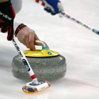 Kays of Scotland has produced all of the curling stones used in this year's Winter Olympics. (Photo by Ronald Martinez/Getty Images)