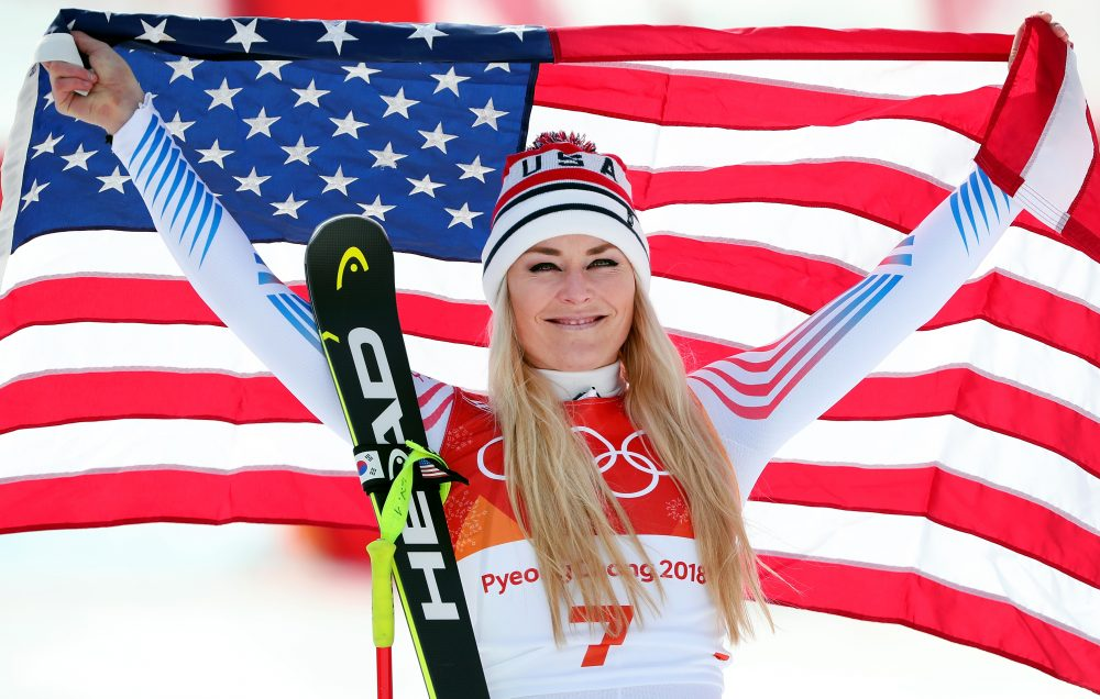 Olympic athletes like Lindsey Vonn have been making their voices heard. It's something Bill Littlefield is happy to see. (Tom Pennington/Getty Images)