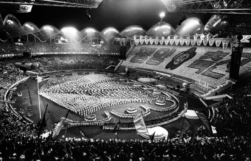 North Korea built the largest stadium in the world for the 1989 World Festival of Youth and Students. (Korean Central News Agency/Korea News Service via AP Images)