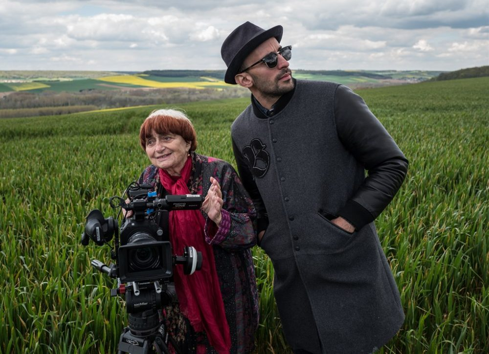 Filmmaker Agnès Varda with street artist JR. (Courtesy Cohen Media Group)