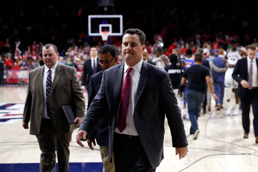 A widespread scandal has rocked the NCAA with the help of the FBI. Notable coaches like Rick Pitino and Sean Miller (pictured) have found themselves caught in the cross hairs. (Chris Coduto/Getty Images)