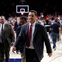 A widespread scandal has rocked the NCAA with the help of the FBI. Notable coaches like Rick Pitino and Sean Miller (pictured) have found themselves caught in the cross hairs.  (Photo by Chris Coduto/Getty Images)