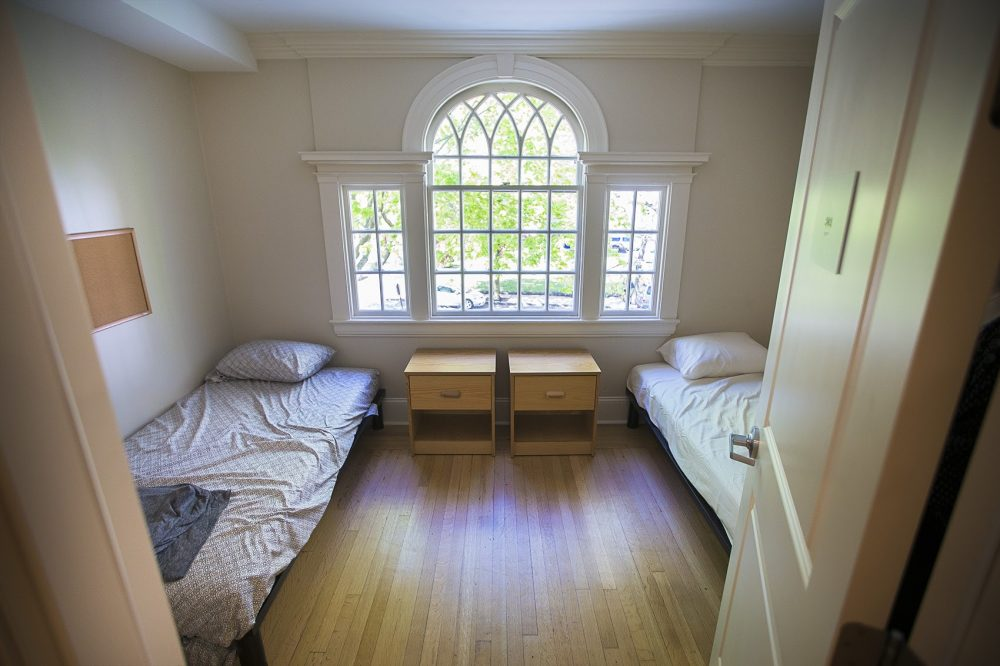 A two bed room on the second floor of New Joelyn House in Roxbury, Mass. in May 2017. (Jesse Costa/WBUR)