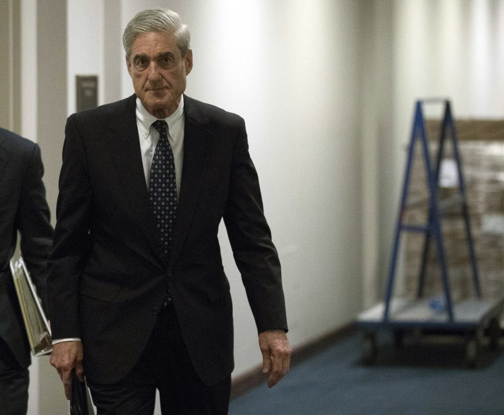 Former FBI Director Robert Mueller, the special counsel probing Russian interference in the 2016 election, departs Capitol Hill following a closed door meeting, Wednesday, June 21, 2017, in Washington. (Andrew Harnik/AP)