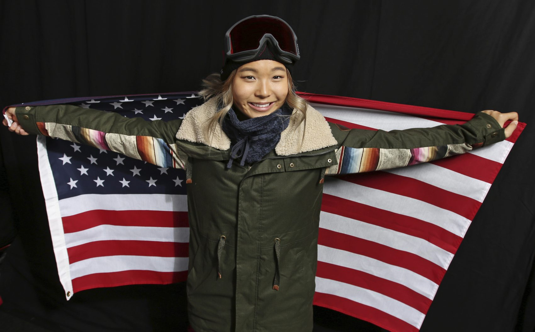 United States Olympic Winter Games Snowboarder Chloe Kim poses for a portrait at the 2017 Team USA Media Summit Monday, Sept. 25, 2017, in Park City, Utah. (Rick Bowmer/AP)