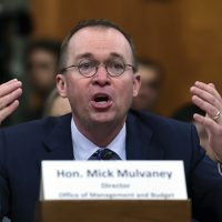 Budget Director Mick Mulvaney testifies before the Senate Budget Committee on Capitol Hill in Washington, Tuesday, Feb. 13, 2018, on President Donald Trump's fiscal year 2019 budget proposal. (Susan Walsh/AP)