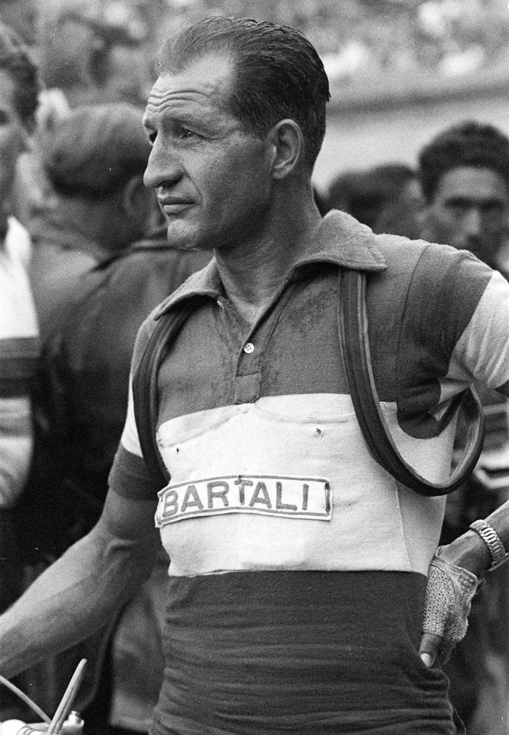 Italian cycling great Gino Bartali, seen in this 1953 picture, whose victory in the 1948 Tour of France may have averted a political insurrection at home. In 1948, the nationwide enthusiasm touched off by Bartali's victory in the prestigious French Tour helped to ease political tensions over the shooting and wounding of Communist leader Palmiro Togliatti. Several historians suggested thatelation over Bartali's win avoided an insurrection by Italian communists. (AP Photo)