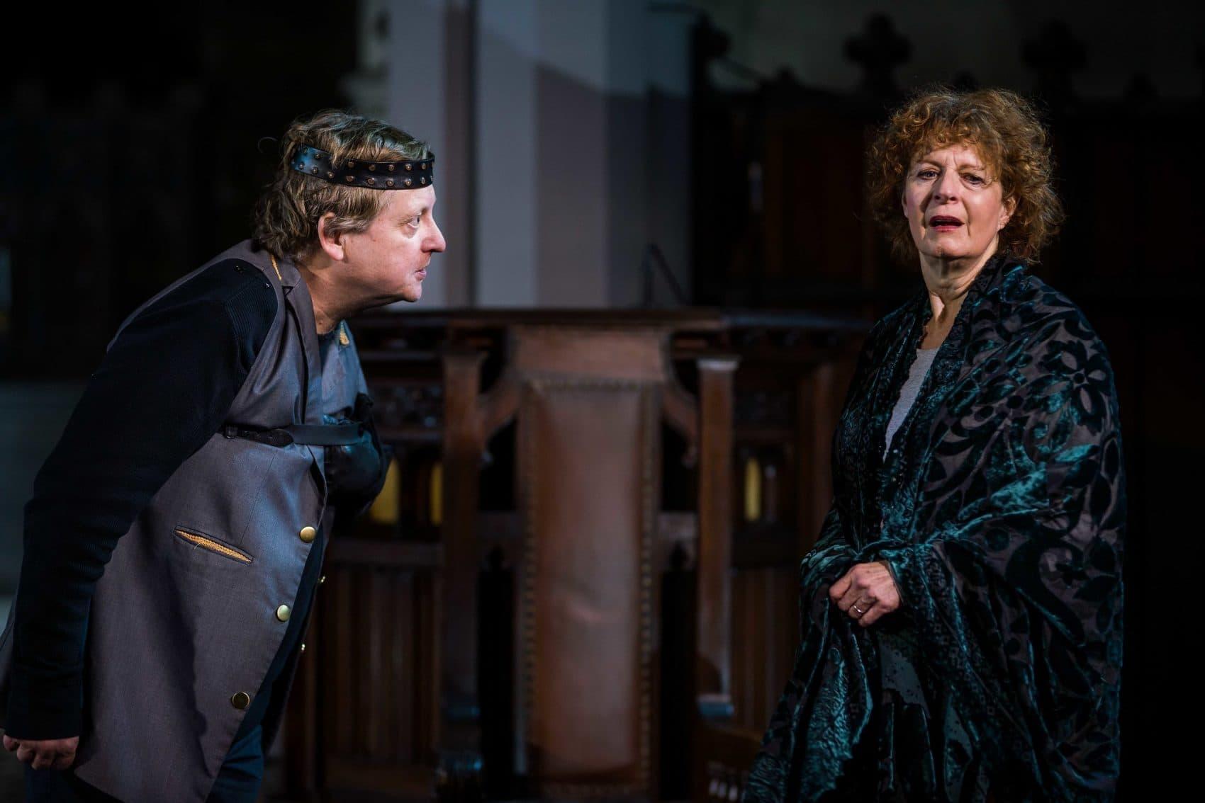 "Steven Barkhimer and Paula Plum in ""Richard III."" (Courtesy Nile Scott/Actors' Shakespeare Project)"