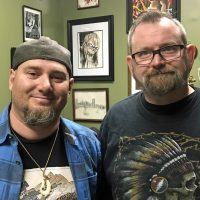 Dave Ente and Dave Cutlip have been working together to cover tattoos for the past year. (Courtesy of Dave Ente)
