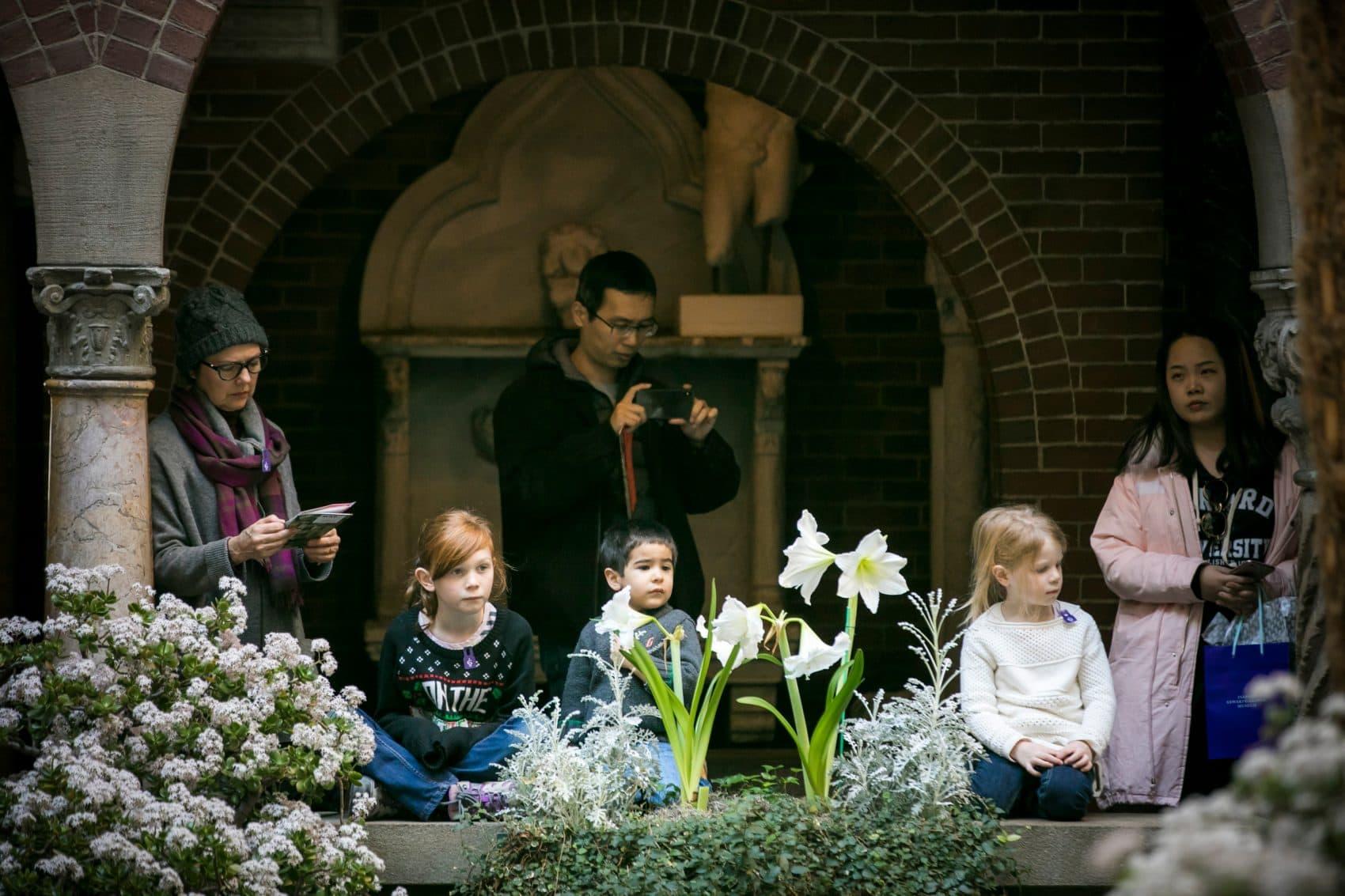 Children at the Isabella Stewart Gardner Museum. (Courtesy Matt Teuten)