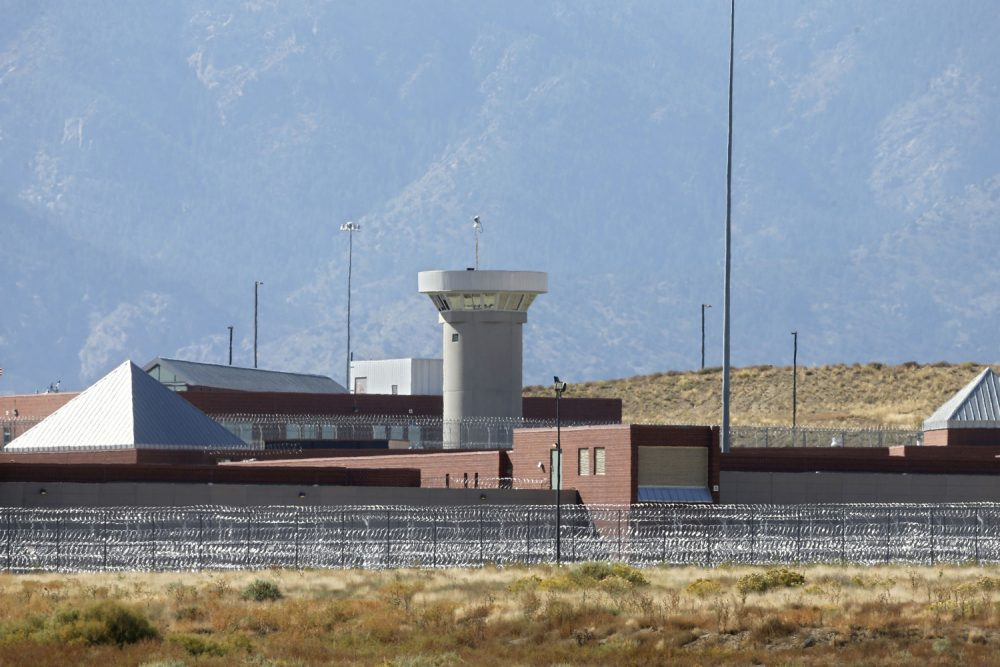 FILE - In this Oct. 15, 2015 file photo, a guard tower looms over a federal prison complex which houses a Supermax facility outside Florence, in southern Colorado. Attorney General Jeff Sessions has directed the nation's federal prosecutors to pursue the most serious charges possible against the vast majority of suspects, a reversal of Obama-era policies that is sure to send more people to prison and for far longer terms. The move, announced in a policy memo sent to U.S. attorneys late on May 10, has been expected from Sessions. (AP Photo/Brennan Linsley,File)