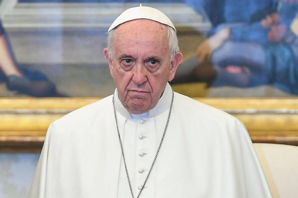 Pope Francis stands in his private library at the Vatican, Monday, Feb. 5, 2018. Pope Francis received a victim's letter in 2015 that graphically detailed how a priest sexually abused him and how other Chilean clergy ignored it, contradicting the pope's recent insistence that no victims had come forward to denounce the cover-up, the letter's author and members of Francis' own sex- abuse commission have told The Associated Press. (Alessandro Di Meo/Pool photo via AP)