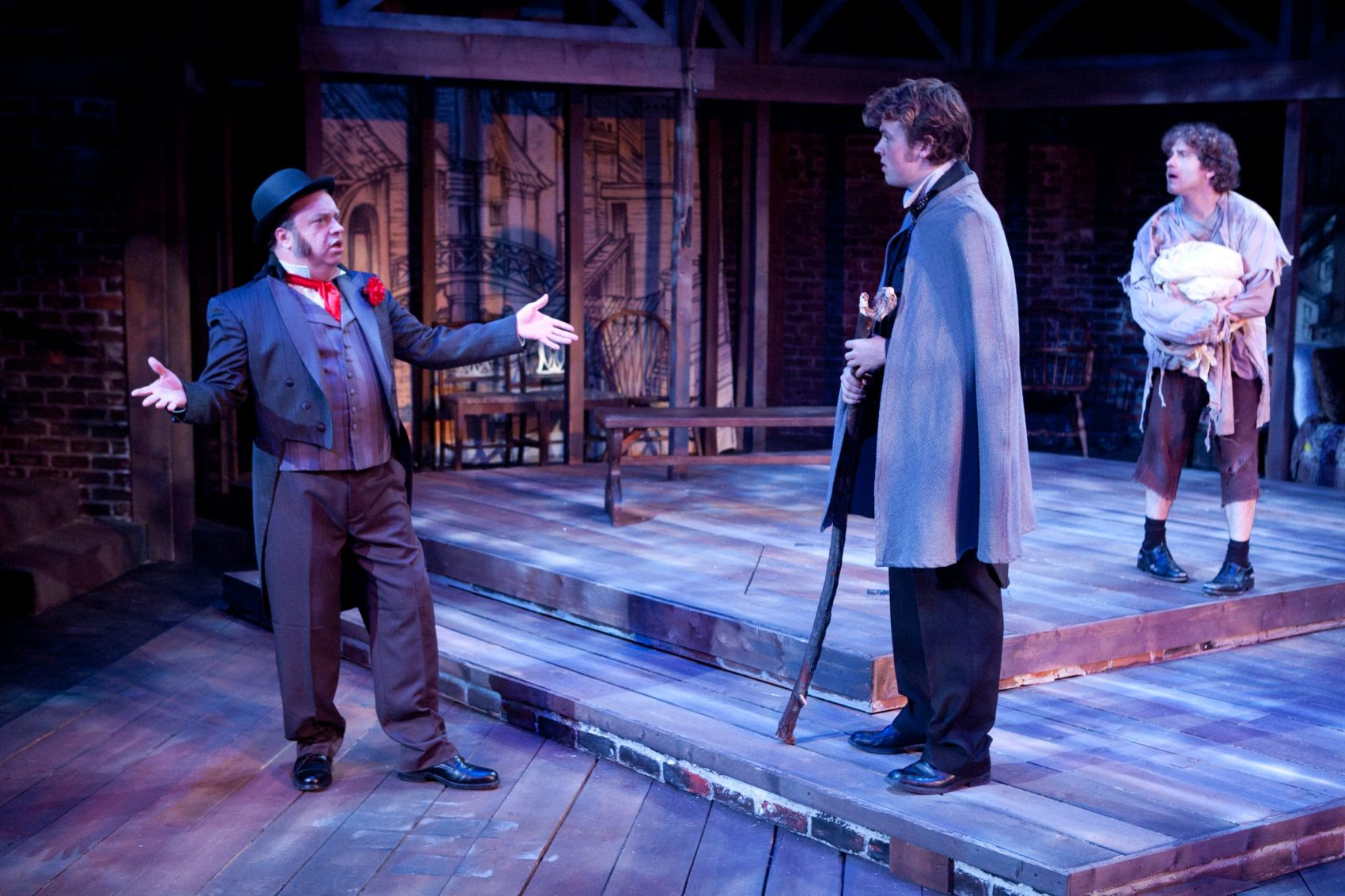 "Larry Coen In ""The Life and Adventures of Nicholas Nickleby."" (Courtesy of Mark S. Howard Lyric Stage Company of Boston)"