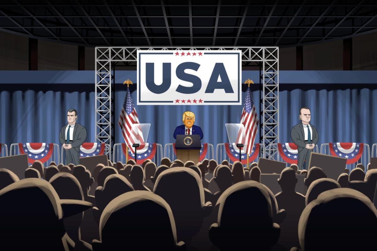 "Cartoon Donald Trump in ""Our Cartoon President."" (Courtesy Showtime)"