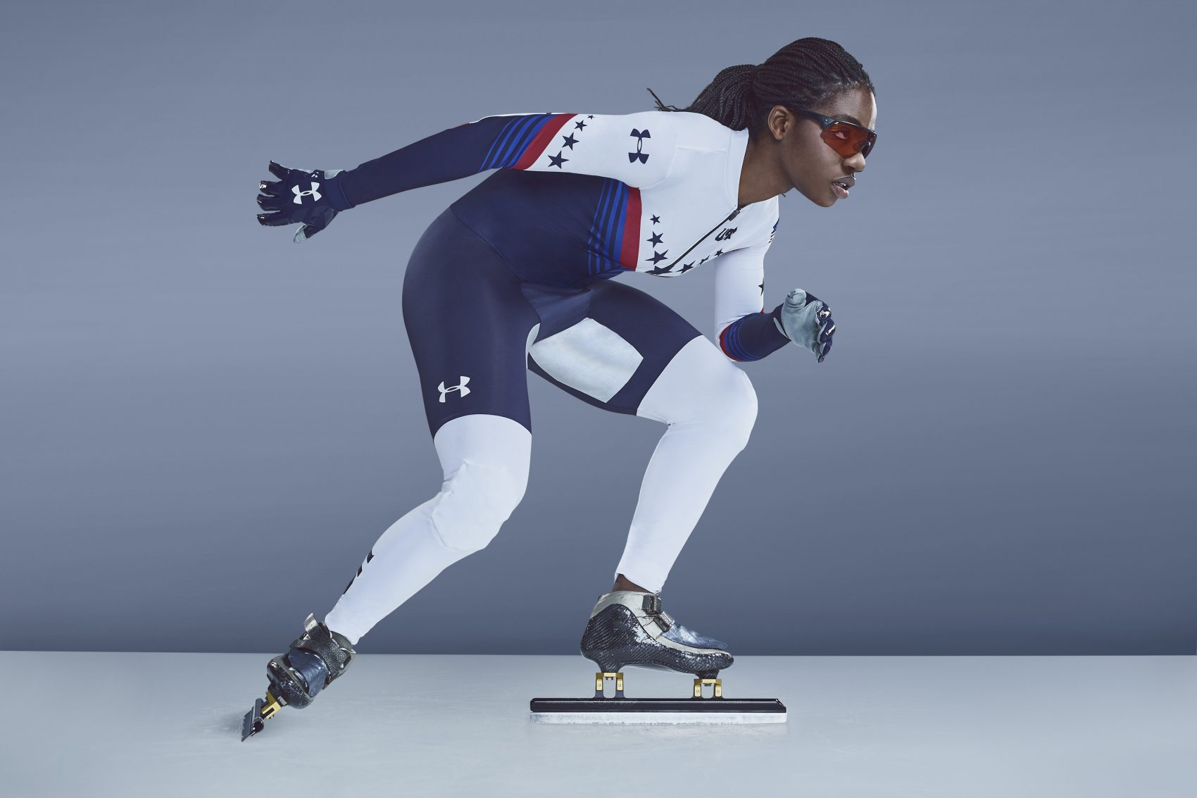Short track speedskater Maame Biney, who has qualified for the 2018 Winter Olympics in Pyeongchang. (Courtesy Under Armour)