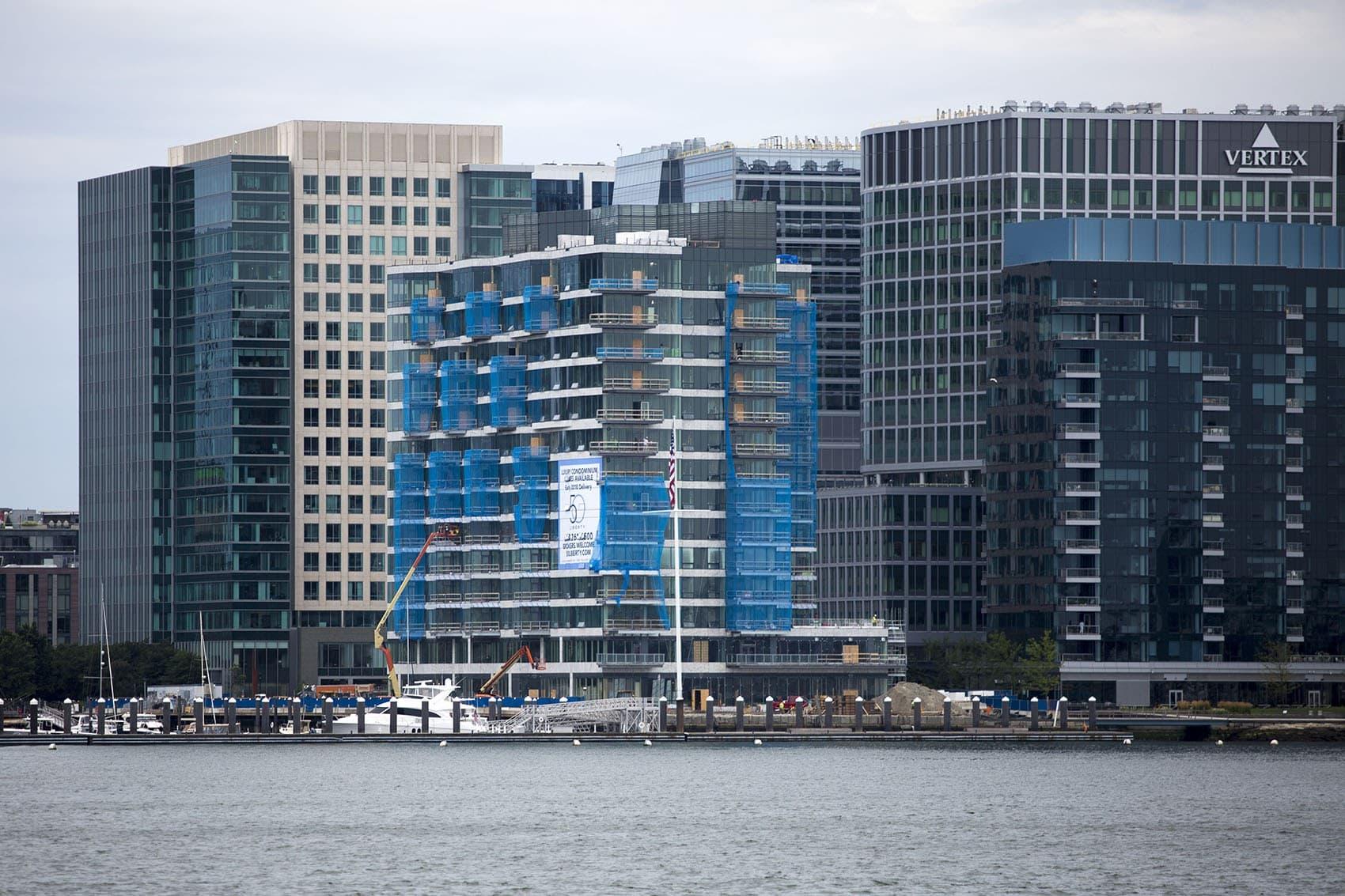 A look at Fan Pier in Boston's Seaport District (Jesse Costa/WBUR)